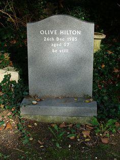 Epitaph ~ Highgate Cemetery, London