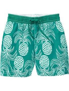 Pineapple-Print Swim Trunks for Baby | Old Navy