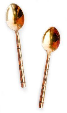 { Bronze Bamboo Spoon }