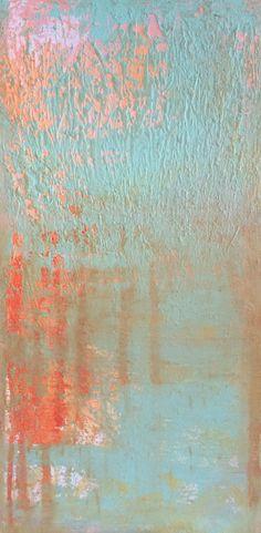 Bill Judkins, Untitled, 2014, 12x24, acrylic, dye, molding paste. #beach #sea #ocean