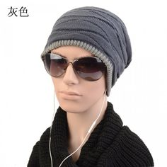 0c09118c08f2b men thermal knitted hat winter warm knitted hat casual piles cap male  winter hats boyfriend gift  12.99