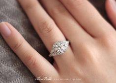 2.0 ct.tw Art Deco Engagement Ring-Brilliant Cut by Besbelle