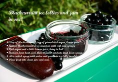 Homemade blackcurrant ice lollies and jam recipe - Lyndsey Young