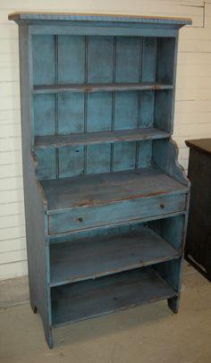 Blue Furniture, Dream Furniture, Country Furniture, Furniture Outlet, Furniture Projects, Furniture Makeover, Painted Furniture, Primitive Cabinets, Primitive Furniture