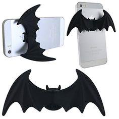 Cute Creative Mini Bat Wing stand. $5.99  Universal Silicone Gel Stick Desktop Bed Kitchen Gym Lazy Bracket Holder Stick Stuck Stand for GPS PDA Portable Navigation iPod Touch 4/5 iPhone 4/4S/5/5C/5S/6/6Plus Samsung Galaxy S4/S4Mini/S5/S60/Grand Prime G530H/Tab, LG G2/G3/G4/G Flex D955/D958 Sony Xperia Z Ultra XL39h C6802 C6806 C6833/Xperia Z1/Xperia Z2/Xperia Z3, Motorola Moto G/ X/E,HTC One M8/M9/Desire 816(Black) Ancerson