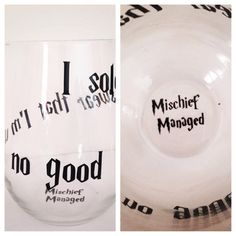 I solemnly swear that I'm up to no good stemless wine glass by SimplyGlassic on Etsy https://www.etsy.com/listing/193608539/i-solemnly-swear-that-im-up-to-no-good