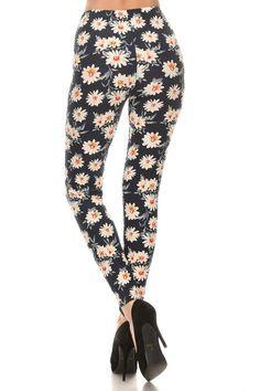 Regular Leggings~ Daisy Print