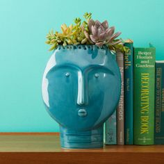Frida Retro Turquoise Vase Ceramic © Two's Company