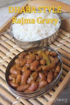 Dhaba style rajma curry which is super easy to make and needs just few spices. It doesn't need onions or tomatoes in this.