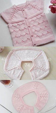 Knitting For Kids Baby Knitting Patterns Baby Patterns Stitch Patterns Layette Baby Items Crochet Baby Baby Booties Baby Sweaters Baby Knitting Patterns, Knitting For Kids, Easy Knitting, Knitting Stitches, Baby Patterns, Knitting Needles, Double Knitting, Cardigan Bebe, Knitted Baby Cardigan