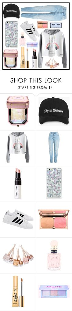 """Unicorn Style"" by izzwhizzicorn on Polyvore featuring Too Faced Cosmetics, Bobbi Brown Cosmetics, adidas, Christian Louboutin and Miu Miu"