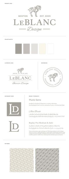LeBlanc Interior Design Branding and Identity Design by BRAIZEN