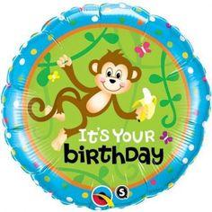 Birthday monkeys go bananas standard foil balloon http://www.wfdenny.co.uk/p/birthday-monkeys-go-bananas-balloon/3462/