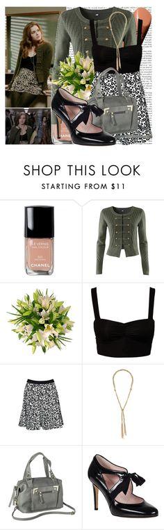"""Lydia Martin-Lunatic"" by elenadobrev90 ❤ liked on Polyvore featuring Chanel, H&M, Club L, Rebecca Taylor, BCBGMAXAZRIA, Xhilaration and Kate Spade"