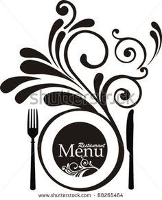 Vintage restaurant menu. Design elements isolated on White background. Vector illustration