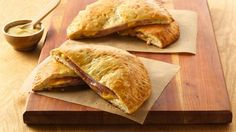 Grands!® Ham and Cheese Melts...I'm so not in the mood to make a big fancy meal tonight, trying these!