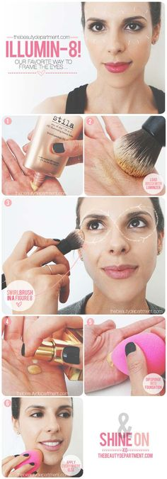 Best Contouring Tips and Tutorials - The Highlighter - Looking For The Best Contouring Tutorial, Kit or Products For Your Makeup Routine? You Have To See This Drugstore Bronzer, The Powder and Cream That These Tutorials Use To Show You How To Do Your Own Step By Step DIY Contouring At Home. Try A Different Palette Or Contouring Stick Today After Watching These Tutorials - thegoddess.com/contouring-tips-tutorials