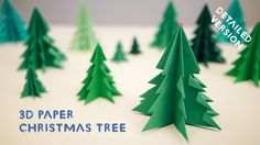 3D Paper Christmas Tree - [Detailed Version]