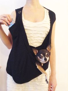 Small dog pocket pet sling scarf dog carrier bag in by HeartPup, $138.00