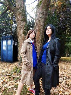 #drwho #tardis #nine #and #ten #epic #cape #tree #forest #geek #fangirls #geronime #wibblywobblytimeywimeystuff