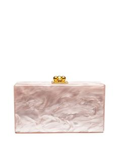 Jean+Solid+Acrylic+Clutch+Bag,+Rose+by+Edie+Parker+at+Neiman+Marcus.