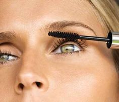 When applying mascara, sweep the brush toward your nose, not toward your temples.