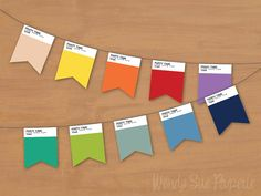 We love these Pantone-inspired products! (via An Ode to Pantone: 40 Awesome Pantone Products Printable Banner, Party Printables, Holiday Gift Guide, Holiday Gifts, Party Props, Party Ideas, Art Party, Pantone Color, Party Gifts