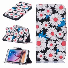 Yiizy Samsung Galaxy S6 G9200 G9208 Case, Sunflower Design Premium PU Leather Slim Flip Wallet Cover Bumper Protective Shell Pouch with Media Kickstand Card Slots -- Awesome products selected by Anna Churchill