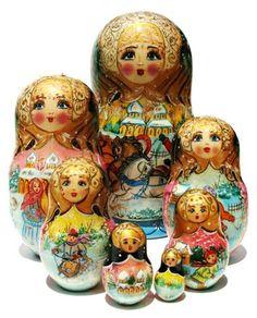 """Troyka Nesting Dolls (7-piece set) 8""""H"""