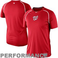 pretty nice 048c2 5372e MLB Nike Washington Nationals Pro Combat Core Raglan Performance T-Shirt  Baseball Fashion, Washington