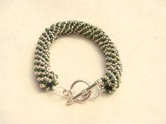 Zilver groene spirol armband van CPaccessoires op Etsy