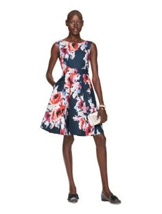 hazy floral fit and flare dress - kate spade new york