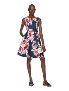 hazy floral bow back dress - kate spade new york