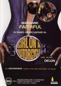 classic 60s film poster Girl On A Motorcycle marianne faithfull 60s vintage fashion style icon