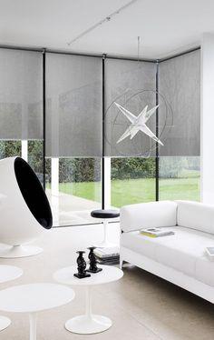 rolgordijnen grijs - stores enrouleurs - roller blinds - Copahome raamdecoratie