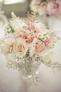 Different #weddings #flowers #pastel #pink #white