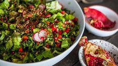 Salade fattouche de kale et de grenade   Cuisine futée, parents pressés