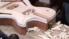 Tutorial - planing a guitar body for the neck break angle Guitar Diy, Guitars For Sale, Guitar Building, Guitar Design, Custom Guitars, Ukulele, Musical Instruments, Angles, Electric Guitars
