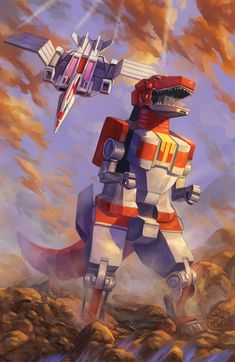 Tyrannosaurus zord and pterodactyl zord Power Rangers Fan Art, Power Rangers Comic, Power Rangers 2017, Power Rangers Megazord, Tommy Power, Godzilla, Zoids, Vr Troopers, Pawer Rangers