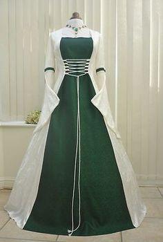 Medieval Renaissance Celtic Wedding Dress ....this one needs more of a V neck