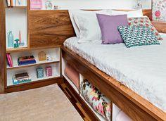 Aproveite o espaço debaixo da cama