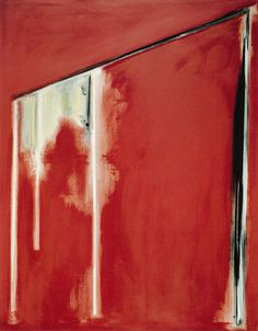 MINORU KAWABATA「長方形 赤(1982)」アクリリック・キャンバス 213×168cm