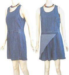 80s Denim Romper Mini Skort Dress Vintage Match | eBay