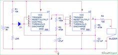 Circuit diagram for quiz buzzer using 555 timer ic electronic fridge door alarm circuit diagram using 555 and ldr ccuart Image collections