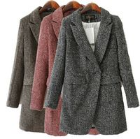 93104c7ef7e6 fall and winter fashion trench woolen overcoat Jackets loose design women  long outerwear jacket coats solid