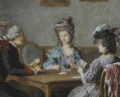 """Card Party in the Home of Elis Schroderheim"" - detail, Pehr Hilleström (1732–1816)  Nationalmuseum Stockholm."