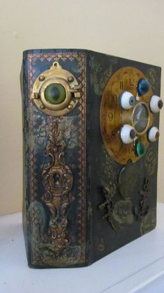 Altered Art Book. The Navigator - Side View