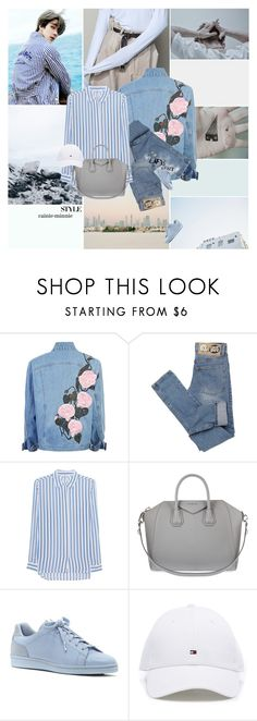 """""""One fine spring day~"""" by rainie-minnie ❤ liked on Polyvore featuring Nana', Cheap Monday, iHeart, Givenchy, ED Ellen DeGeneres, stripes, kpop, Sehun, aesthetic and goodvibesonly"""