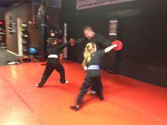 Kerri and Danny finish the class with a punch to the face with a loud KIAI!!!  #martialarts #karate #judo #jiujitsu #aikido #shorinryu #nagewaza #sparring #specialneeds #samurai #selfdefense #mma #campbells