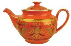 very pretty pot Orange Tea, Orange Sherbert, Tea Blog, Teapots Unique, Oranges And Lemons, Tea Pot Set, Teapots And Cups, Orange Crush, Chocolate Pots